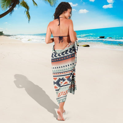 Tribal Aztec vintage pattern Beach Sarong Pareo Wrap