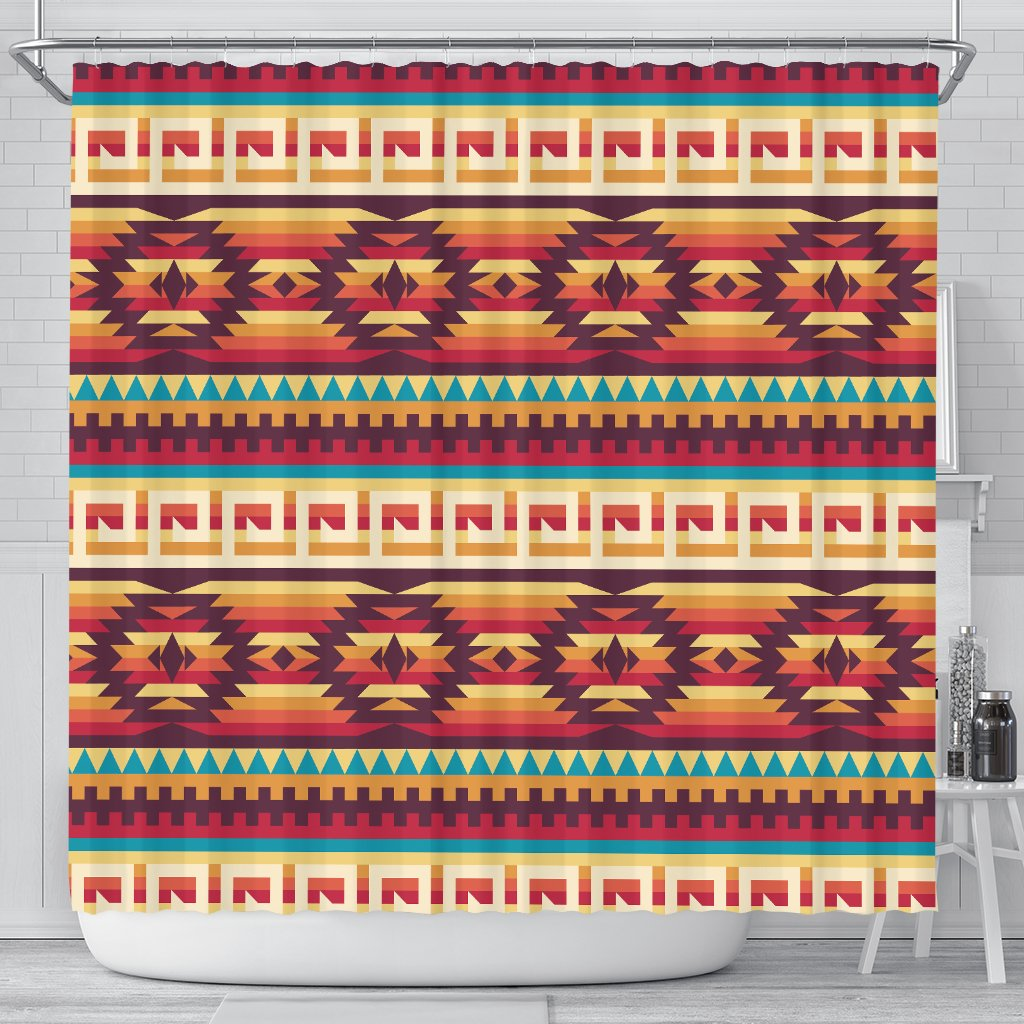 Tribal Aztec Vintage Shower Curtain