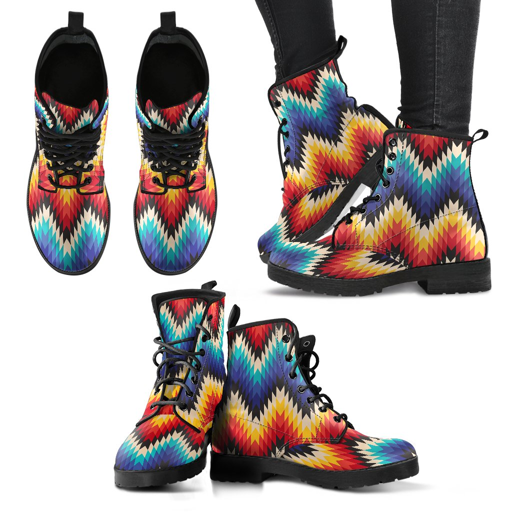 Tribal Aztec Women Leather Boots