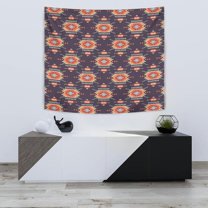 Tribal indians Aztec Tapestry