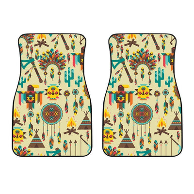 Tribal indians native american aztec Car Floor Mats