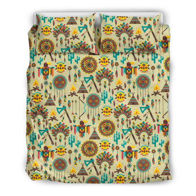 Tribal indians native american aztec Duvet Cover Bedding Set