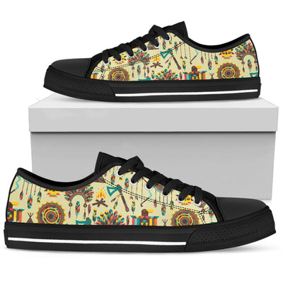 Tribal indians native american aztec Men Low Top Shoes