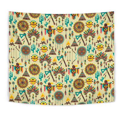 Tribal indians native american aztec Tapestry