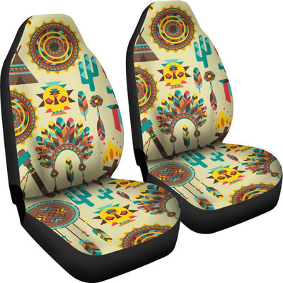 Tribal indians native american aztec Universal Fit Car Seat Covers