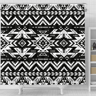 Tribal indians native aztec Shower Curtain