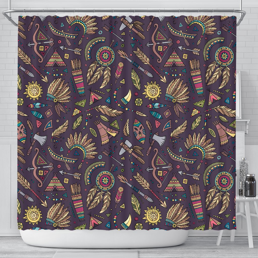 Tribal Native American Aztec Shower Curtain