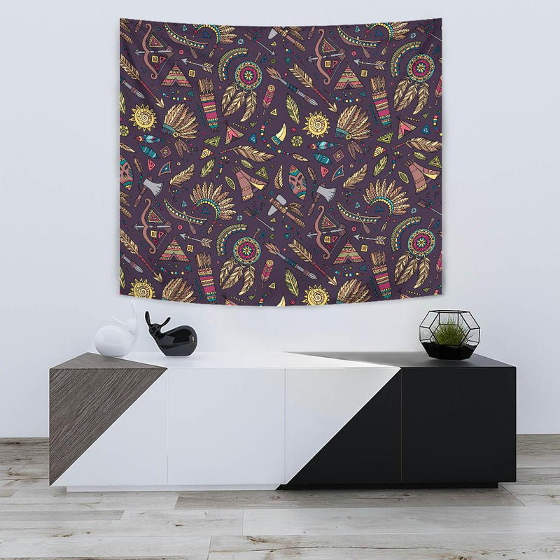 Tribal native american Aztec Tapestry