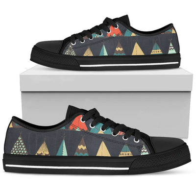 Tribal native american tent Aztec Men Low Top Shoes