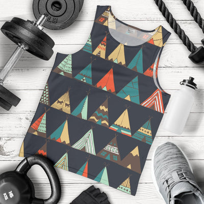 Tribal native american tent Aztec Men Tank Top