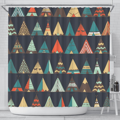 Tribal Native American Tent Aztec Shower Curtain