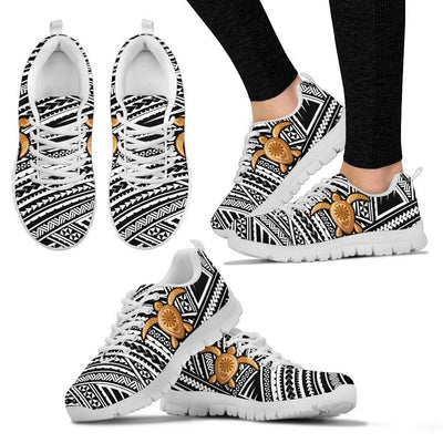 Tribal Polynesian Sea Turtle Hawaiian Women Sneakers