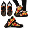 Tribal Sea Turtle Hawaiian Flower Women Sneakers