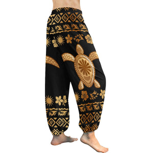 Tribal Sea turtle Polynesian Hawaiian Harem Pants