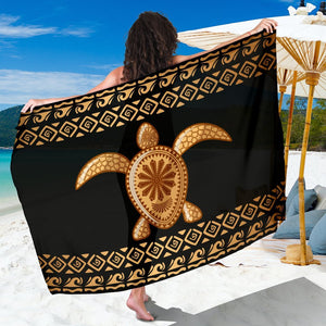 Tribal Sea turtle Polynesian Hawaiian Beach Sarong Pareo Wrap