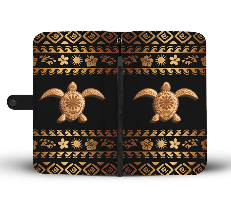 Tribal Sea turtle Polynesian Hawaiian Wallet Phone Case