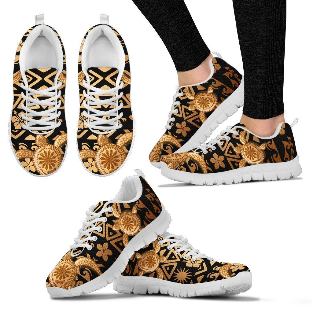 Tribal Sea turtle Polynesian Hawaiian Women Sneakers