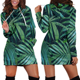 Tropical Flower Pattern Print Design TF011 Women Hoodie Dress
