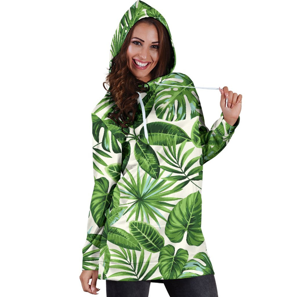 Tropical Flower Pattern Print Design TF013 Women Hoodie Dress