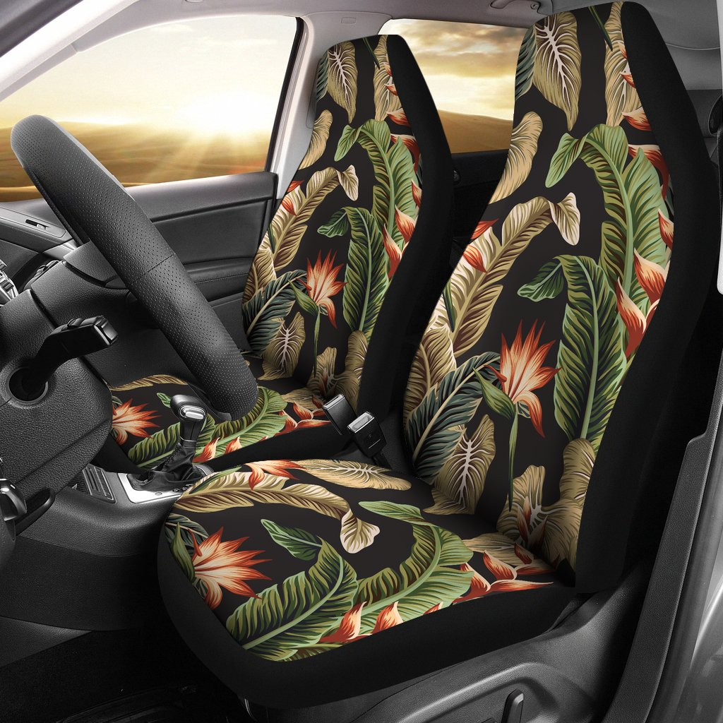 Tropical Flower Pattern Print Design TF014 Universal Fit Car Seat Covers-JorJune