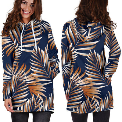 Tropical Flower Pattern Print Design TF07 Women Hoodie Dress