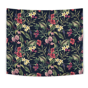 Tropical Flower Pattern Tapestry