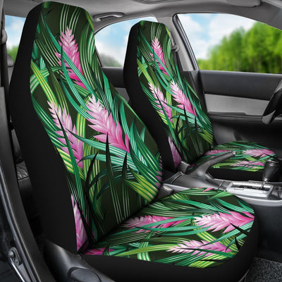 Tropical Flower Pink Heliconia Print Universal Fit Car Seat Covers