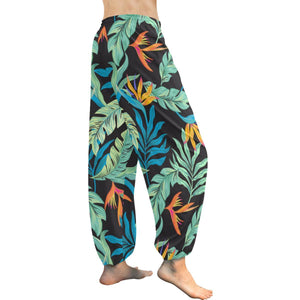 Tropical Palm Leaves Hawaiian Flower Harem Pants