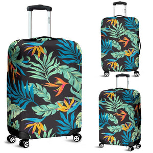 Tropical Palm Leaves Hawaiian Flower Luggage Protective Cover