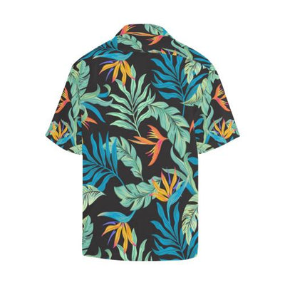 Tropical Palm Leaves Hawaiian Flower Men Hawaiian Shirt