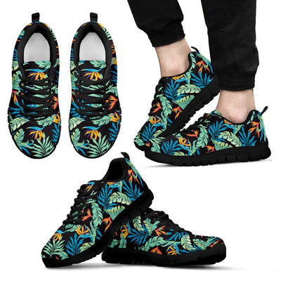 Tropical Palm Leaves Hawaiian Flower Men Sneakers