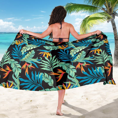 Tropical Palm Leaves Hawaiian Flower Beach Sarong Pareo Wrap