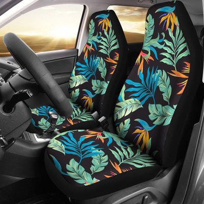 Tropical Palm Leaves Hawaiian Flower Universal Fit Car Seat Covers