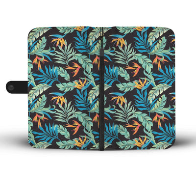 Tropical Palm Leaves Hawaiian Flower Wallet Phone Case