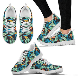 Tropical Palm Leaves Hawaiian Flower Women Sneakers