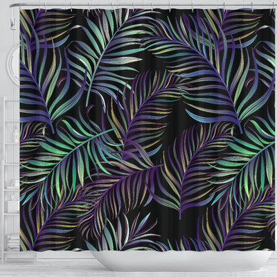 Tropical Palm Leaves Pattern Brightness Shower Curtain
