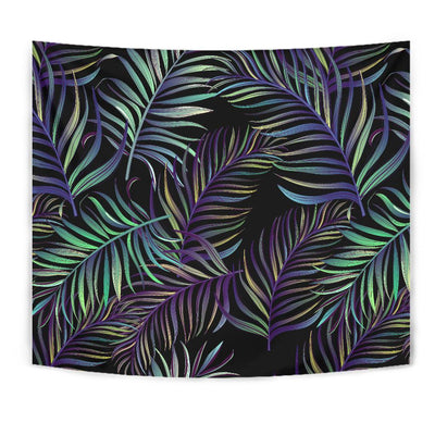 Tropical Palm Leaves Pattern Brightness Tapestry