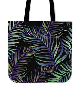 Tropical Palm Leaves Pattern Brightness Tote Bag