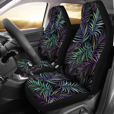 Tropical Palm Leaves Pattern Brightness Universal Fit Car Seat Covers