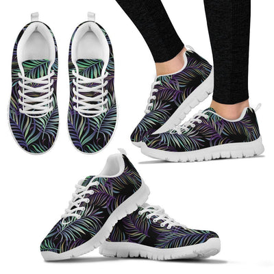 Tropical Palm Leaves Pattern Brightness Women Sneakers