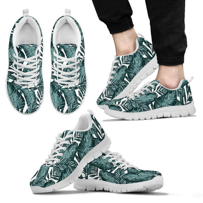 Tropical Palm Leaves Pattern Men Sneakers
