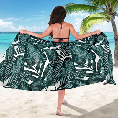 Tropical Palm Leaves Pattern Beach Sarong Pareo Wrap