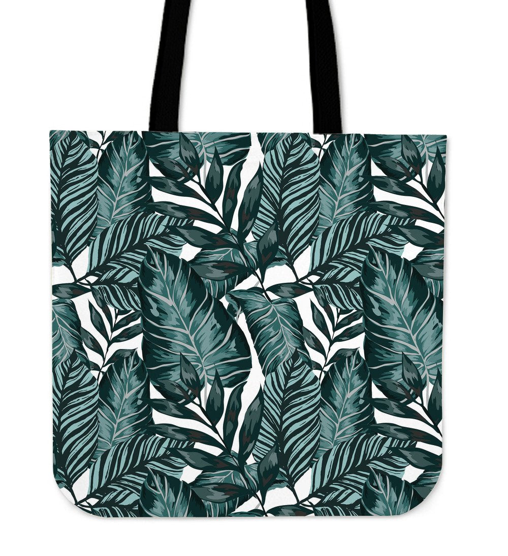 Tropical Palm Leaves Pattern Tote Bags