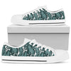 Tropical Palm Leaves Pattern Women Low Top Canvas Shoes