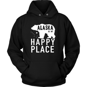 Tshirts Alaska happy place hoodies love sweatshirts Vnecks long sleeves ala1004
