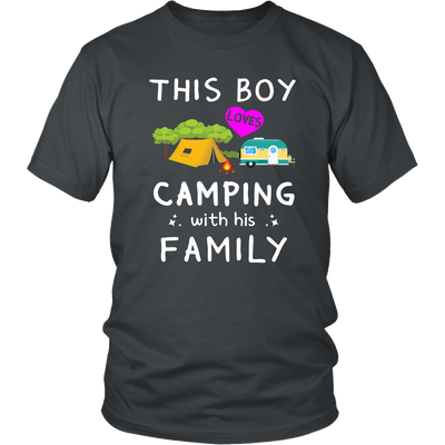 Tshirts boy loves camping with his family hoodies love sweatshirts Vnecks long sleeves camp1078