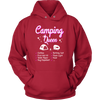Tshirts camping queen hoodies love sweatshirts Vnecks long sleeves camp1076