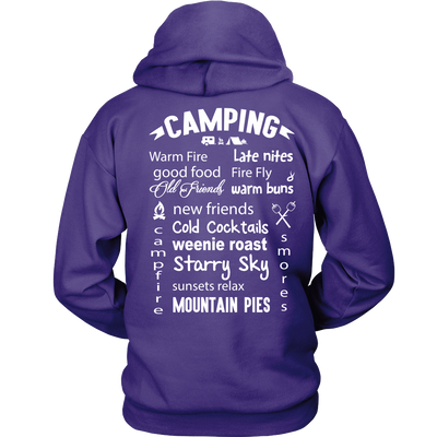 tShirts camping rules2 hoodies sweatshirts Vnecks long sleeves CAMP1004