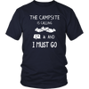 Tshirts campsite is calling camping hoodies sweatshirts Vnecks long sleeves CAMP1002