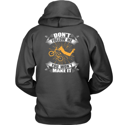tShirts don't follow me mountain bike biking hoodies sweatshirts Vnecks long sleeves tank top mtb1001